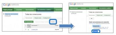 importar conversiones offline adwords