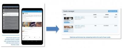 tarjetas de generación de clientes potenciales Twitter