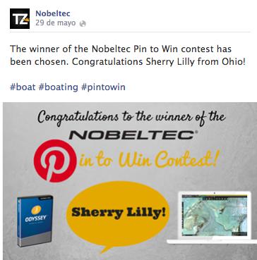 La empresa Nobeltec ofrece promociones a los clientes en redes sociales