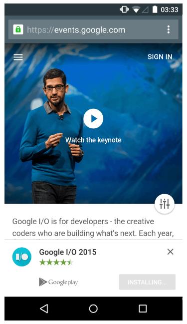 App Install Banner para Chrome