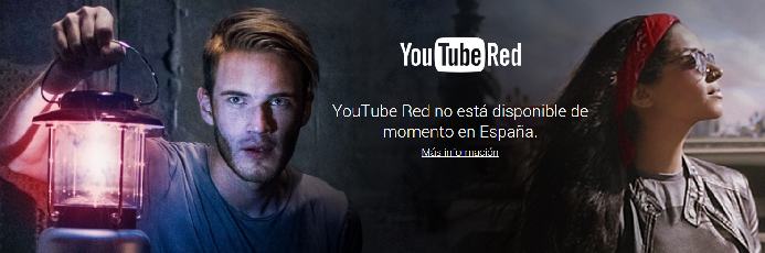 Youtube Red no disponible en España