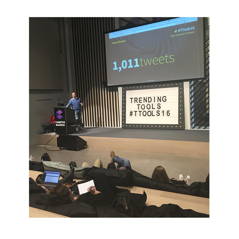 Javier Abrego, CEO de Tweet Binder, en Trending Tools 2016