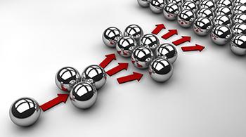 Efecto multiplicador en un conjunto de bolas