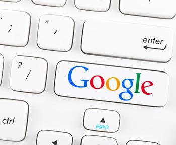Botón de Google en un teclado