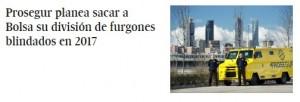 Titular tradicional de El País: Prosegur planea sacar a Bolsa su división de furgones blindados en 2017