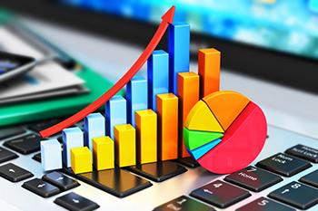 Representación gráfica del crecimiento de los negocios online