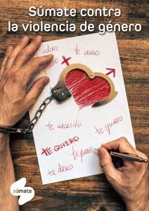 cartel súmate contra la violencia de género