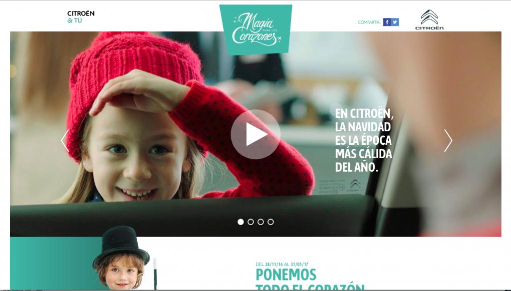 Campaña Magia para los Corazones de Citroën
