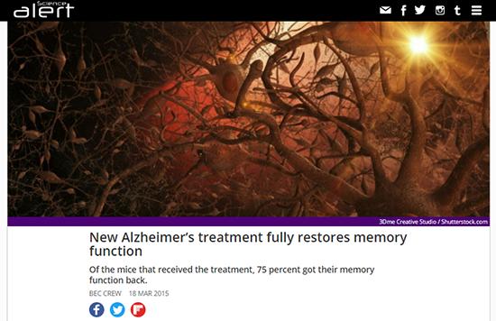 Publicación viral sobre una posible cura para el Alzheimer