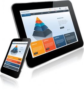 Apariencia de una página web en distintas pantallas