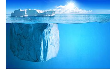 La deep web es como la parte sumergida de un iceberg