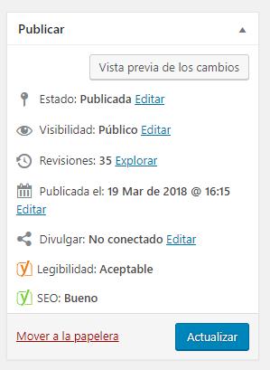 Cómo cambiar la fecha de publicación de un post de blog manualmente en WordPress