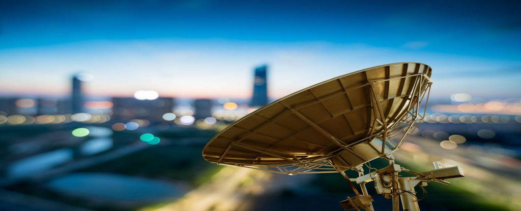 Una antena de telecomunicaciones
